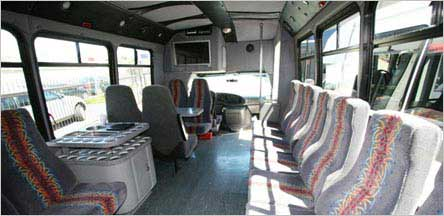 S20 Passenger Party Bus Sacramento Interior