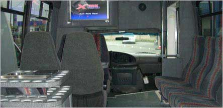 20 Passengers Party Bus Sacramento Interior