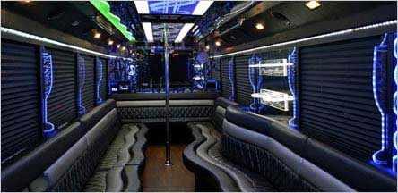 28 Passenger Party Bus Interior Sacramento