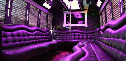 28 Passengers Party Bus Interior Sacramento