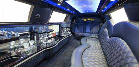 Lincoln Stretch Limo Interior Sacramento