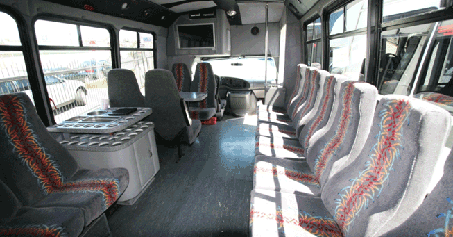 Sacramento 20 Passenger Party Bus Interior