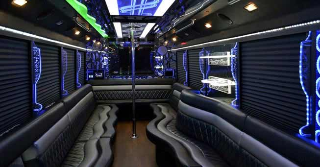 Sacramento 28 Passenger Party Bus Interior
